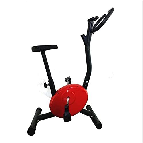 Qjkmgd Inicio Bicicleta de Ejercicios, Bicicleta de Giro de Velocidad infinitamente Variable con Pantalla LED Ejercicio Equipo de Aptitud física Adecuado para Ejercicios de Ejercicios en Interiores