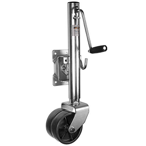 "WEIZE Swivel Trailer Jack, Heavy Duty Boat Trailer Jack with Dual Wheels, 10"" Lift, 1500 lbs"