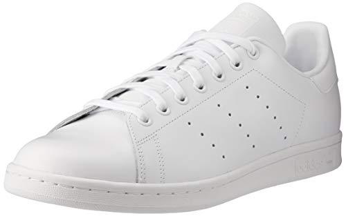 adidas Stan Smith, Scarpe da Ginnastica Mens, Ftwr White/Ftwr White/Ftwr White, 43 1/3