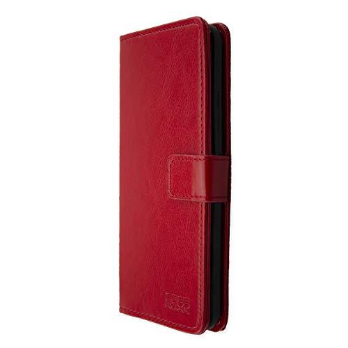 caseroxx Hülle für das Gigaset GS370, Taschen in verschiedenen Varianten (Flipcase, TPU-Bumper & Bookstyle) (Bookstyle-Tasche, rot)
