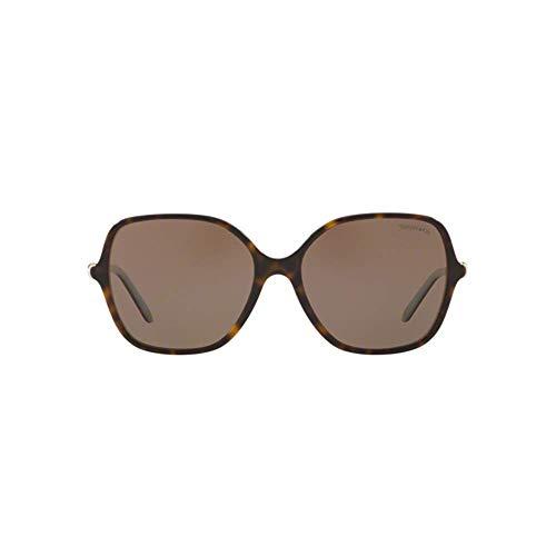 Tiffany & Co. 0TY4145B 81343G 57 Gafas de sol, Azul (Havana/Blue/Light Brown), Mujer