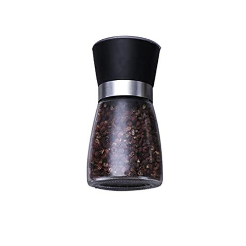 Upcaremall Molinillo de pimienta, juego manual de molino de sal y pimienta, acabado de acero inoxidable cepillado para Himalaya, sal de roca, pimienta, hierbas secas, especias (corta)