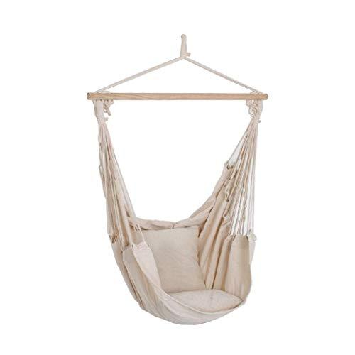 Unbekannt Hochwertiger Decken Hänge Sessel Matte beige Holz Textil Baumwolle Polyester Harms 507017