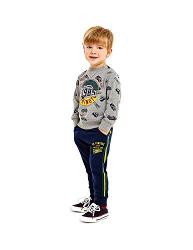 IDO Sweat-shirt enfant 4.V522/00 LV80 Tailles : 7 ans Couleurs : gris/imprimé bleu vert