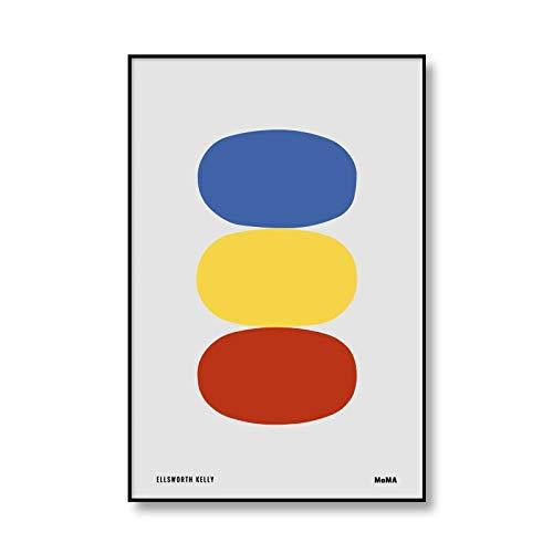 Póster geométrico único de Bauhaus, lienzo artístico impreso, pintura abstracta, Mural, mobiliario minimalista para el hogar, lienzo sin marco, pintura A1 50x70cm