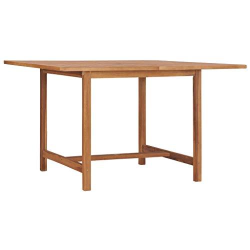 E E-NICES Tavolo da Giardino 120x120x75 cm in Legno Massello di Teak