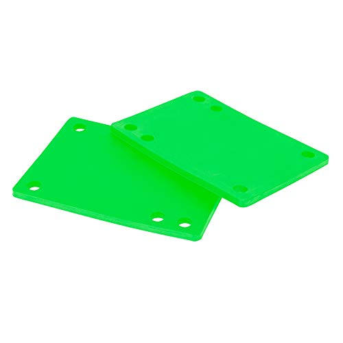 "Cal 7 Skateboard Riser Pads 1/8"" (Green)"