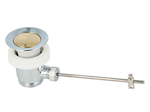 tecuro Exzenter Ab- und Überlaufgarnitur chrom/gold für Waschtisch