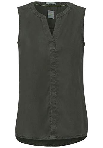 Cecil Damen 342573 Bluse, Utility Olive, XXL