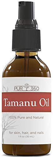 Pur360 Tamanu Oil - Pure Cold Pressed - Best Treatment for Psoriasis, Eczema, Acne Scar, Foot Fungus, Rosacea - Relief for Dry, Scaly Skin, Blisters and More