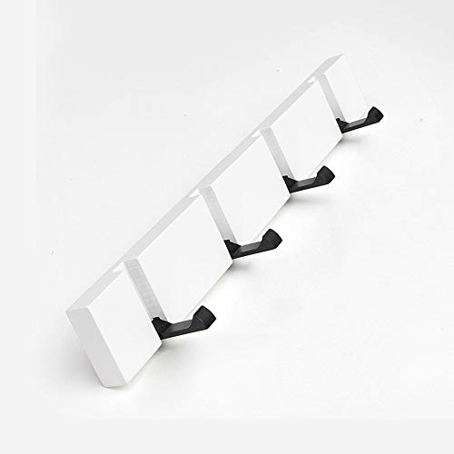 Xiao huang li wandmontage kapstok - moderne minimalistische stijl 2 haken 3 haken 4 haken 5 haken inklapbaar te verbergen woonkamer slaapkamer hal badkamer achter de haak deur elegant wit