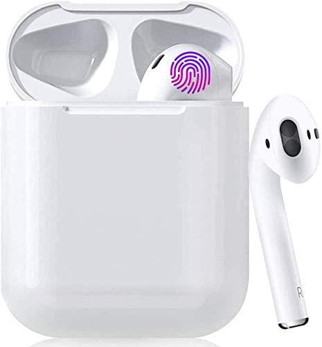 Auricolare Bluetooth Senza Fili, Cuffie Wireless Stereo 3D with IPX7 Impermeabile, Accoppiamento Automatico Per Chiamate Binaurali, Adatto Compatibile con iPhone/Android/Apple AirPods/Samsung