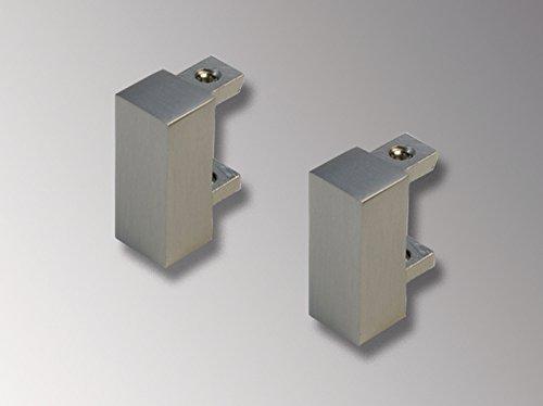Liedeco Endstück, Endknopf Cubis V | eckig | Nickel-matt | 2 Stück
