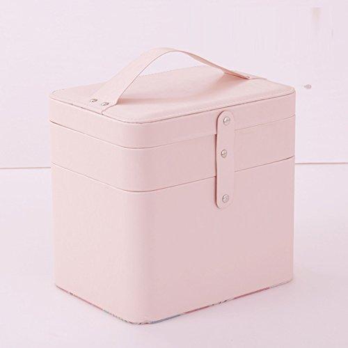 Boîte de rangement cosmétique sac cosmétique cosmétiques plein air voyage mode bain organisateur de maquillage maquillage stockage de brosse de maquillage cadeau de petite amie surprise garçons pour les filles porte-rouge à lèvres sac portable imperméable femme-B