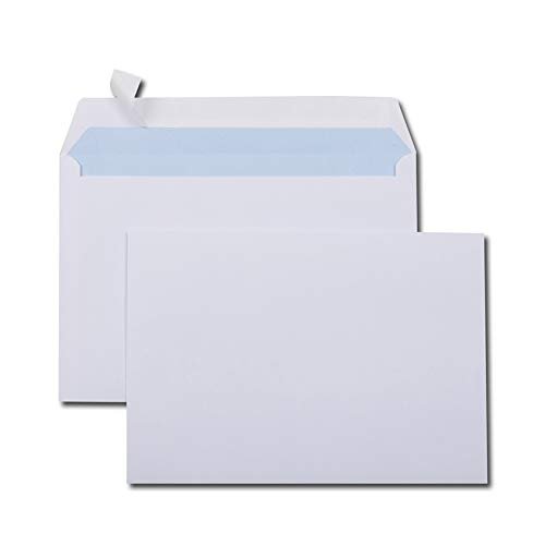 GPV 597 Briefumschläge, C5, 162 x 229 mm, weiß, ohne Fenster