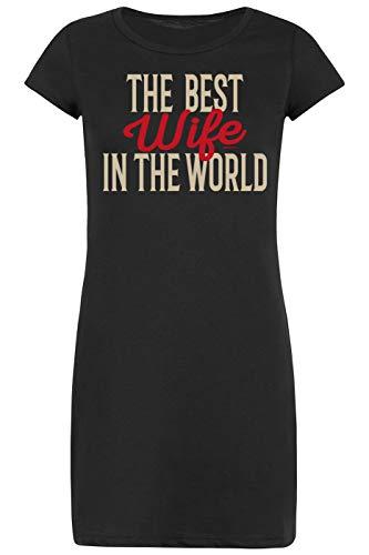 Ehefrauen-Sprüche-Nachthemd-Schlafshirt Damen/Bekleidung Thema Familie: The Best Wife In The World