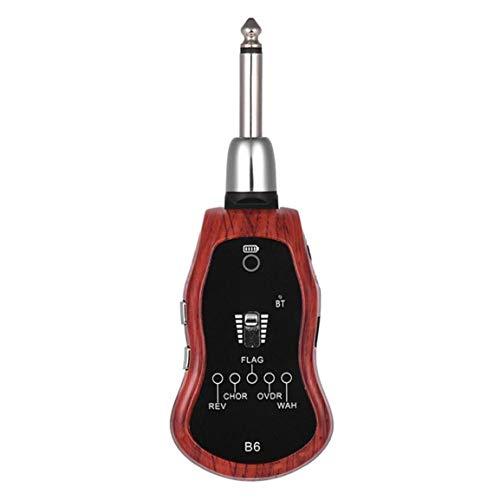 EElabper Sistema De Guitarra Guitarra Transmisor Receptor Digital Recargable Inalámbrico UHF con Multifunción 5 Efectos De Modulación