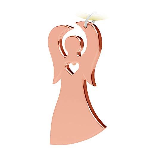 Schlüsselanhänger Schutzengel - Geschenke und Glücksbringer fürs Auto - Autoschlüsselanhänger - kleine Aufmerksamkeit für Frauen, Männer und Reisende - Schlüssel Anhänger Engel in Rosegold