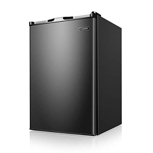Euhomy Upright freezer, 3.0 Cubic Feet, Single Door Compact Mini Freezer with Reversible Door, Small freezer for Home/Dorms/Apartment/Office (Black)