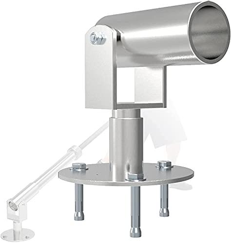 NFRMJMR T Stangenreihe 50 mm, Landmine-Fitnessstudio, Gewichtscheiben-Platten-Post-Landmine-Basis-Support, 360 ° -Read-Rotation Barbell T BAR-Zeilen-Befestigungsplatte-Plattform, für 2