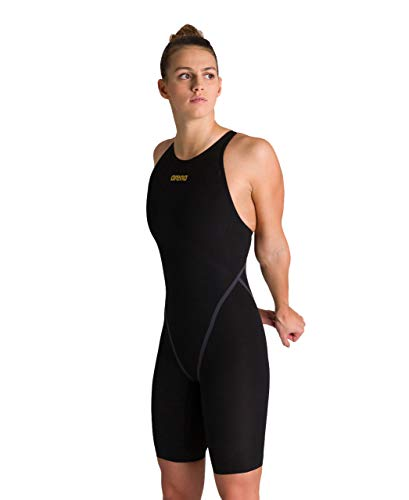 Arena Women's Powerskin Carbon Core FX Closed Back Racing Swimsuit, Black/Gold, 30