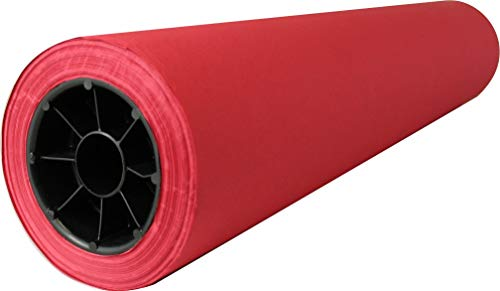 Red Colored Kraft Paper Roll | 36' x 200' | Made in USA from 100% Recycled Materials | Perfect for Any Use – Wrapping, Shipping, Table Runner, Decoration, Banners and Signs…