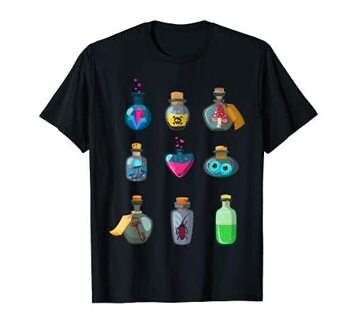 Halloween Magic Potion Elixir Bruja Mago Alquimia Oculto Camiseta
