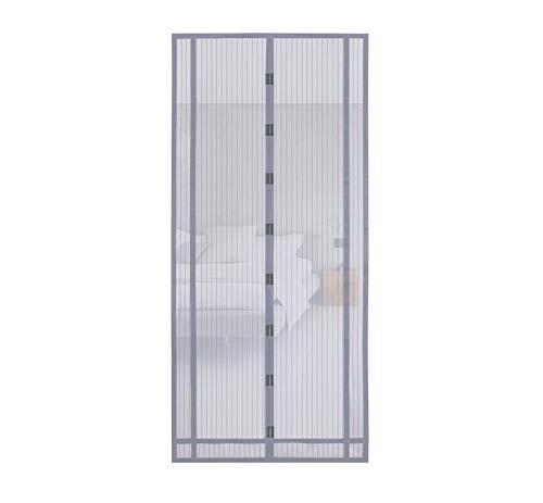 Sekey 220x100cm Magnetvorhang zum Insektenschutz, idealer magnetischer Fliegengitter für Balkontür, Kellertür, Terrassentür (zuschneidbar in Höhe und Breite) durch kinderleichte Klebemontage, grau