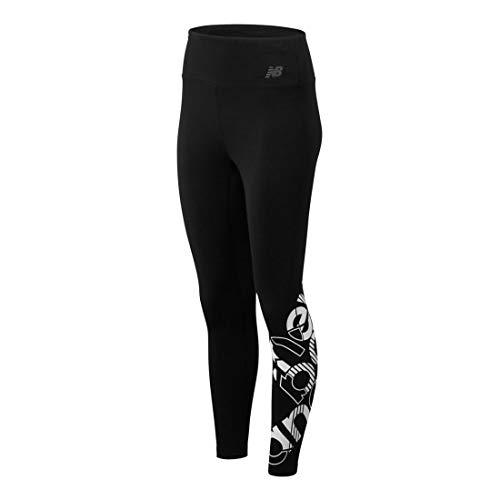 New Balance Relentless Highrise Graphic Tight Leggings Damen schwarz/weiß, XS