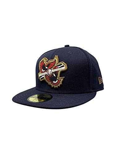 New Era Boston Red Sox 59Fifty Fitted Hat Authentic MLB Fitted Caps 5950 (7 3/8, Navy Inter Americana)