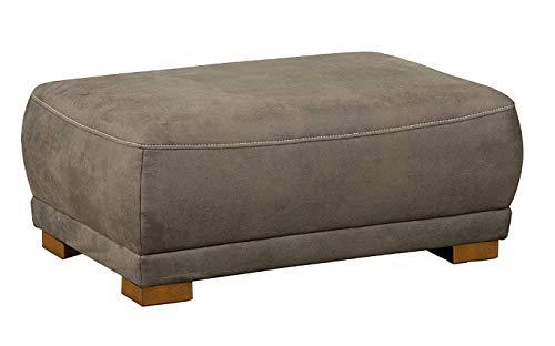 Cavadore Sofa-Hocker 'Modeo' / Sitzhocker für Sofa mit moderner Kontrastnaht / Hochwertiger Mikrofaser-Bezug in Wildlederoptik / Holzfüße / Maße:...