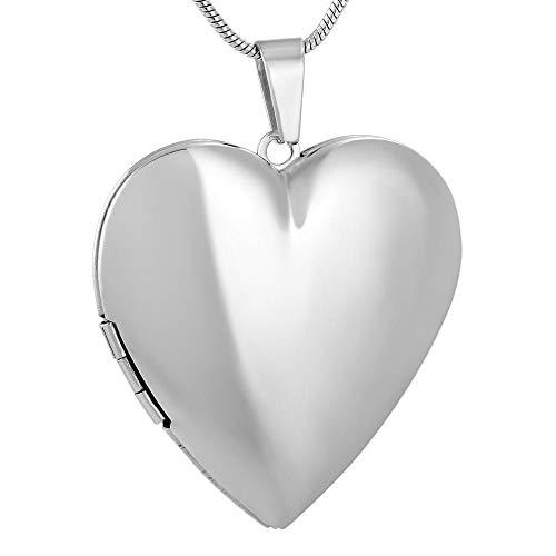 Cadena de Cenizas Corazón en Blanco Diseño Simple Perfume Collares Pendientes Collar de difusor de Perfume de Aceite Esencial de Acero Inoxidable