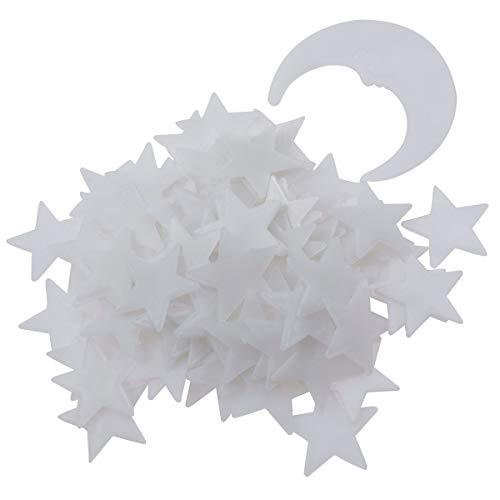 VOSAREA Stelle Luna Fluorescenti Adesive Stickers Murali Bambini Cameretta Adesive 3D 201 Pezzi