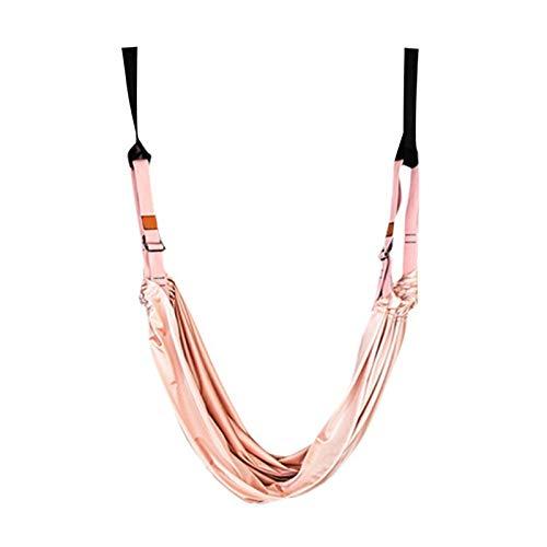 LVTONG Cinturón de Yoga Gimnasio Flexible Colgando Inversión Inversión Swing Aéreo de Yoga Hamaca Camilla Banda Cinturón Salud Yoga Capacitación Accesorios cinturón de Yoga 24 (Color : Pink)
