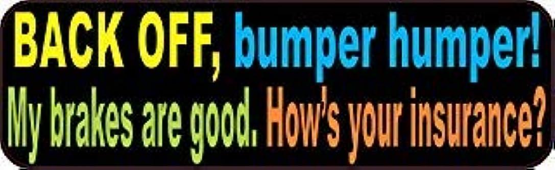 ワインナプキンアジア人StickerTalk 10in x 3in Colorful Back Off Bumper Humper Magnets Vinyl Truck Magnetic Sign [並行輸入品]