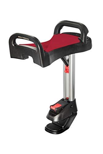 Lascal Saddle pour BuggyBoard Maxi, Assise pliable et retirable, Accessoire poussette pour Modèle Maxi depuis 2011, Siège confortable pour plateforme, rouge