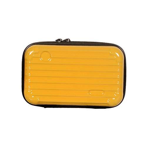 WEMUR Beauty Case Borsa cosmetica Multifunzionale Trucco Bagagli Bag-Fiore Viola (Color : Yellow)