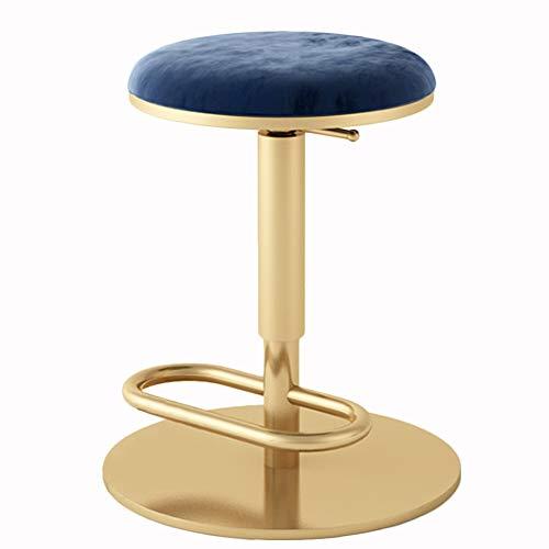 MOye retro-barkruk, hoge kruk, 45-60 cm, gouden statief, café, theestube, lounge