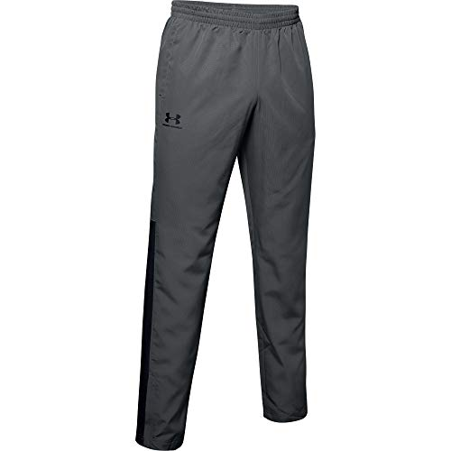 Under Armour Men's Woven Vital Workout Pants , Pitch Gray (012)/Black , X-Large