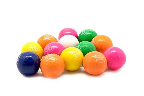 Dubble Bubble Gumballs - 3 LB Resealable Stand Up Bulk Candy Bag - 1' Multi Colored Double Bubble Gum Balls - Assorted Flavors - Filler Candy for Party Favors and Bubble Gum Machines