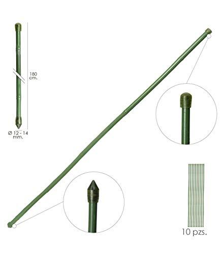 Tutor Varilla Bambú Plastificado Ø 12 - 14 mm. x 180 cm. (