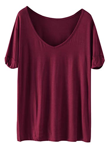 Materials: 95% Rayon, 5% Polyester, Off White/Cream White color has a little seethrough Fabric has some stretch, Fit: Loose order one size up from size chart V Neck Please refer to the size measurement below