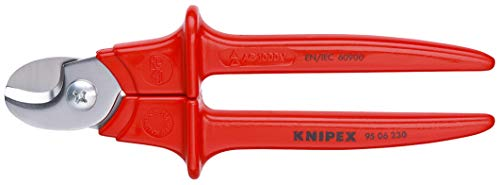 KNIPEX 95 06 230 Kabelschere isoliert, mit Kunststoff umspritzt, VDE-geprüft 230 mm