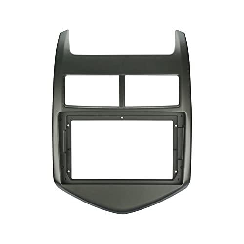 """Yuanyuan 1-2DIN Coche Marco de DVD Audio Adaptador de Audio Dash Kits Facia Panel 9""""Fit for Chevrolet Aveo Sonic 2011 12 13Doble Radio Player (Color Name : XYH RZ GM01)"""