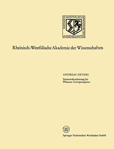 Sinneswahrnehmung bei Pflanzen: Graviperzeption (Rheinisch-Westfälische Akademie der Wissenschaften)