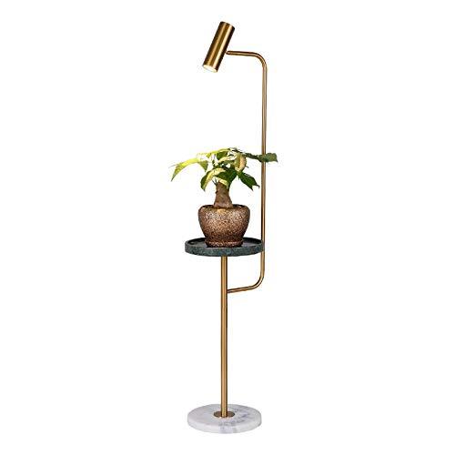DSM Nordische Stehleuchte Ins Wohnzimmer Schlafzimmer Kreative Couchtisch LED Vertikale Boden Tischlampe 150 cm (Color : Golden, Size : Three-Color Light)