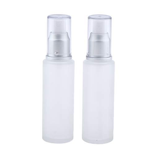 Bonarty 2 Paquets Contenants Vides En Verre Transparent Mat Portable pour Articles de Toilette Accessoires de Voyage Maquillage Bouteilles de Liquide Cosmétiq - 50ml spray