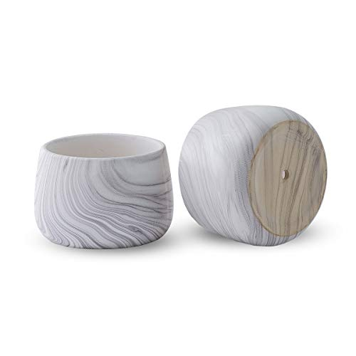 Comciou Marbling Ceramic Flower Pot