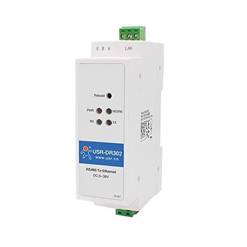 USRCN USR-DR302 Din-Rail Modbus RS485 Serielle Schnittstelle zum Ethernet Konverter Bidirektionale transparente Übertragung zwischen RS485 und RJ45