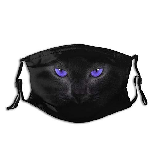 Cat Eyes Black Purple Smoky Eyes Face Mask Fashion Dustproof Breathable Reusable Scarf Adjustable Washable Protective Bandana